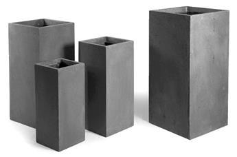 Pot cubique haut clayfibre Lead cubihi 28 / 28 cm Ht 60 cm (Copie)