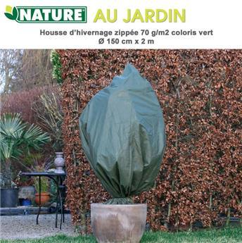 Housse hiver vert Ht 200 Diam 150 cm 70 g/M²