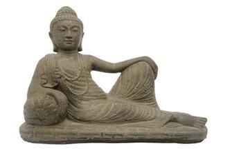 Bouddha Relax sur coussin 42*13 Ht 17 cm (JDB)