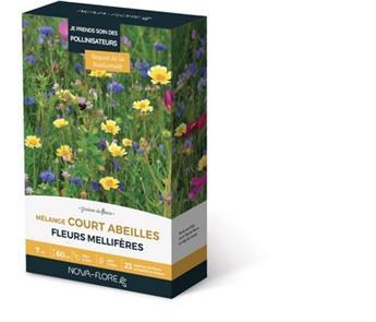Prairie Fleurie Abeilles 60 g 7 M² plantes courtes Nova Flore