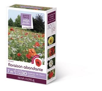 Prairie fleurie Floraison Abondante 200 g 30 M² Nova Flore