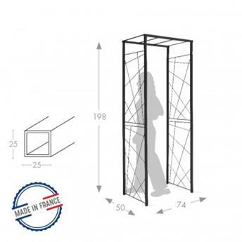 Arche Pergola tube CAR25 mandala anthracite passage 74, lar. 50x Ht 198 cm (5013)
