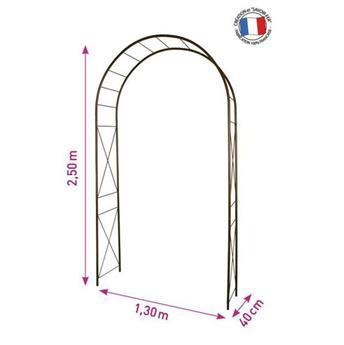 Arche dbl décor losange 130/40/250 fer vieilli (3186)