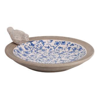 Bain d´oiseau aspect céramique bleu type ancien