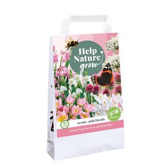 Bulbes mix Help nature Abeilles et papillons Rose * 50 pc