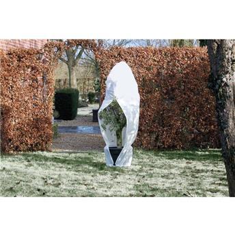 Housse hivernage blanc 70 g/m² - Ø250 x 300 cm avec cordel. et Zip