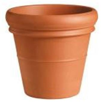Pot Vaso Bordo D48 H42 TerraCotta rouge (Mg)