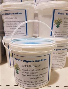 CJR Maërl algues marines BIO 1 kg seau recyclable