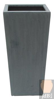 Polystone high square 27 27 Ht 38 cm (JDB)