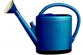 Arrosoir bleu BHR solide 12 l + pomme métal