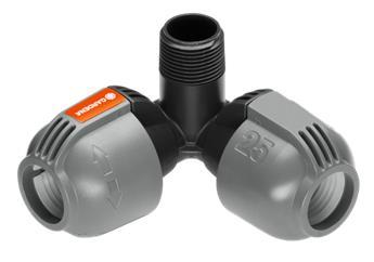 Gardena Piece Connexion en L pipeline 25 mm X 3/4 Filetage Mâle