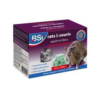 Rat et Souris appât en Bloc